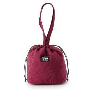 pink adobe(ピンクアドベ)<Lee別注>キルティング 巾着バッグ
