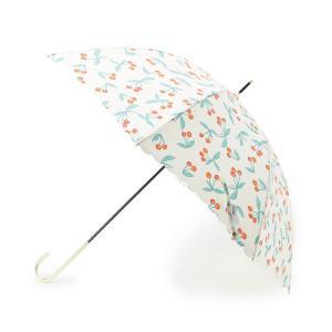 Dessin(Ladies)(デッサン(レディース))Wpc. 晴雨兼用チェリー柄長傘|world-direct
