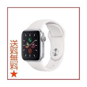 Apple Watch Series 5 (GPSモデル) 40mm シルバーアルミニウムケースとホ...