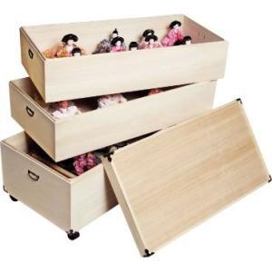 雛人形 収納ケース ひな人形 収納 ケース 桐製 3段|world-i|02