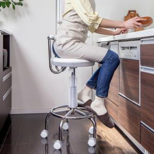 カウンターチェア キッチンチェア ガス圧昇降式 PUキャスター付き 背もたれ ホワイト ブラック レッド ブルー 送料無料|world-i