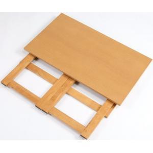テーブル 折りたたみ 木製 センターテーブル サイドテーブル パソコン用デスク 天然木折りたたみテーブル 高さ55cm|world-i|02