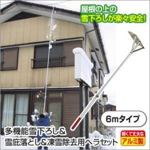 多機能雪下ろし&雪庇落とし&凍雪除去用ヘラセット 6mタイプ world-i