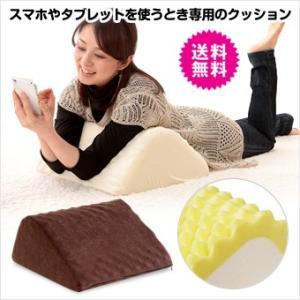 ポイント10倍 在庫一掃 処分市 訳あり 送料無料 スマホ タブレット を使う時専用のクッション 腰 らくらく ひざ曲げ クッション 1個 腰痛対策|world-i