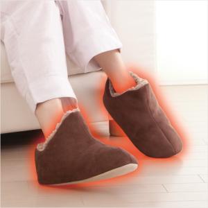 ルームシューズ 極暖 あったか 足が包まれるスリッパ ボア もこもこ 暖か ブーツ ムートン 冷え対策 寒さ対策 冷え性 室内履き 防寒の画像
