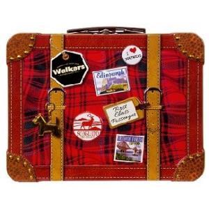 ★数量限定★ウォーカー スーツケース缶フィンガー&チョコチップショートブレッド#1826