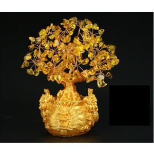 風水 金のなる木 招財樹 黄水晶 財運 金運 装飾龍小 竜 ドラゴン