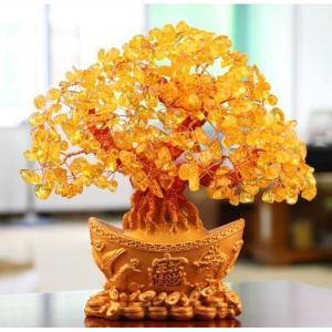 【パワーストーン 天然シトリン】   金のなる木と言われる!  ◆風水の代表アイテム・招財樹◆ 商売...
