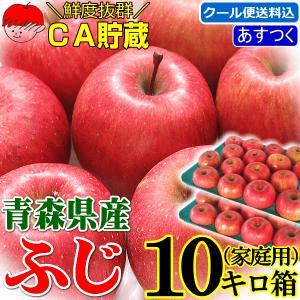 りんご 10kg箱 訳あり 送料無料 青森 リンゴ 10キロ箱 サンふじ 大小様々