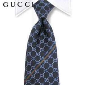 4月1日 再入荷/グッチ GUCCI メンズ ネクタイ 652201069 ネイビー/ジャガード織り...