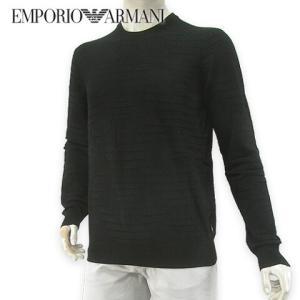 エンポリオアルマーニ/EMPORIO ARMANI メンズ ニット 6G1MY8 1MPWZ ブラッ...