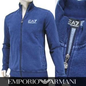 エンポリオアルマーニ エアセッテ/EMPORIO ARMANI EA7 メンズ トラックジャケット 6XPMC1 PJ42Z インディゴウォッシュ/1500/16-17aw