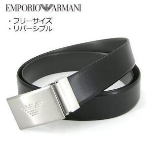 エンポリオアルマーニ/EMPORIO ARMANI メンズ ベルト Y4S224 YLQ7E ブラッ...