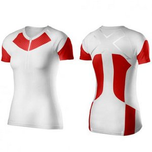 【SALE】2XU 【WR3154a】 XTRM COMPRESSION S/S TOP レディース WHT/SCT|worldcycle-wh