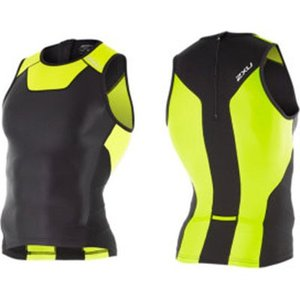 2XU 【MT4357a】X-VENT リアジップ トライシングレット BK/LM worldcycle-wh