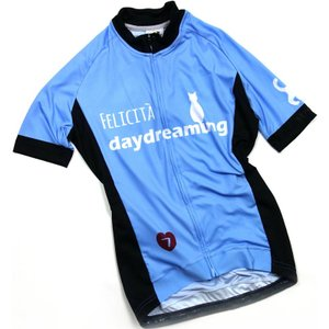 セブンイタリア Daydreaming Cat レディース Jersey スカイ|worldcycle-wh