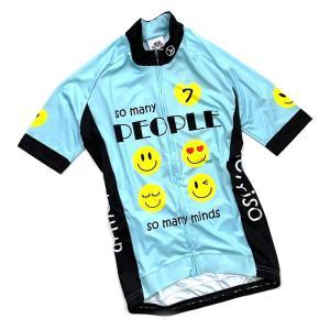 セブンイタリア So Many Smile Lady Jersey チェレステグリーン レディース|worldcycle-wh
