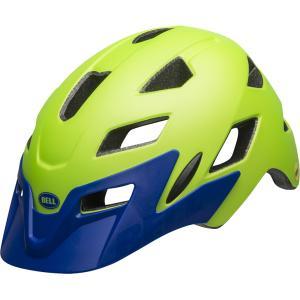 ベル サイドトラック マットブライトグリーン/ブルー ヘルメット|worldcycle-wh