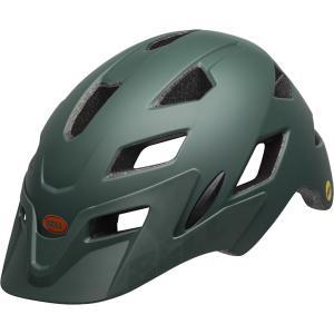 ベル サイドトラック マットダークグリーン/オレンジ ヘルメット|worldcycle-wh