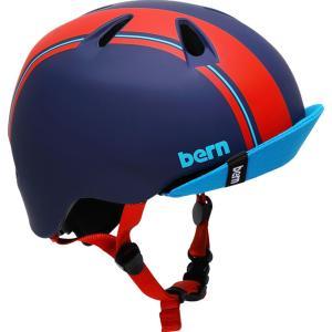 バーン NINO(ニーノ) ブルーレッド レーシングストライプ キッズ向けボーイズヘルメット (推奨年齢2-6歳) worldcycle-wh
