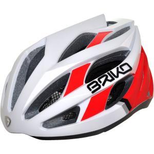【現品特価】ブリコ フオーコ マットホワイト/レッド/ブラック ヘルメット worldcycle-wh