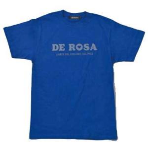 デローザ キッズ クラシック ロゴ Tシャツ ブルー|worldcycle-wh