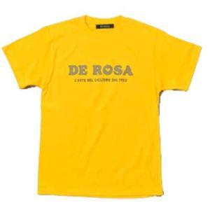 デローザ キッズ クラシック ロゴ Tシャツ イエロー|worldcycle-wh