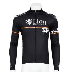 リオン・ド・カペルミュール 長袖ジャージ 千鳥チップ ブラック|worldcycle-wh