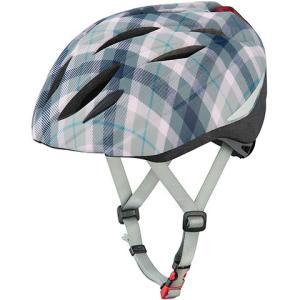 OGKカブト BRIGHT-J1(ブライト・ジェイワン)ヘルメット LEDリアライト付 マットグレースチェックネイビー worldcycle-wh