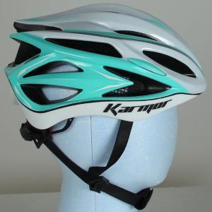 【現品特価】シマノカーマー ASMA2(アスマ2) ホワイト/ミントグリーン ヘルメット karmor worldcycle-wh