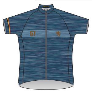 吸汗・速乾・UVカット素材採用、シックな半袖サイクルジャージです。 素材:吸汗・速乾高機能素材(ポリ...