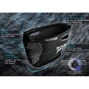 Naroo X5s スリムフィット ブラック フェイスマスク 日焼け予防 UVカット PM2.5 花粉症対策マスク|worldcycle|05