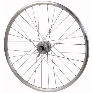 【特急】ワールド 700C DH-3N31-QR AR-713 シルバー 6V 3W ハブダイナモ付ホイール(08F) リムブレーキ仕様 【シルバーバージョン】|worldcycle