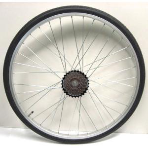 ワールド 26インチ リアホイール アルミリム ローラーブレーキ用 外装6段(16C) タイヤチューブセット|worldcycle