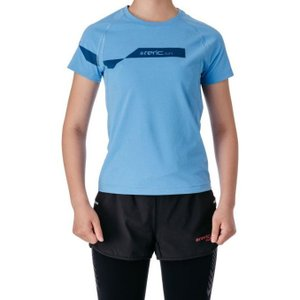 【SALE】レリック レディース 段違いロゴ プリントTシャツ ブルー|worldcycle