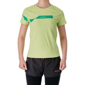 【SALE】レリック レディース 段違いロゴ プリントTシャツ ライム|worldcycle