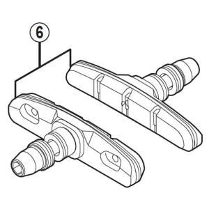 [6]M70T4カートリッジタイプブレーキシューセット(左右ペア) 【自転車】【ロードレーサー用】【...