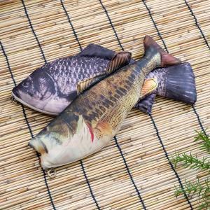 オルルド釣具 魚型 小物入れ ポーチ ペンケース おもしろグッズ クロダイ 黒鯛|worlddepartyafuu
