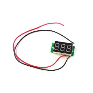 小型 デジタル 電圧計 2.4V〜30V (2線式=別電源不要/埋込型) 電圧 測定 ポイント消化