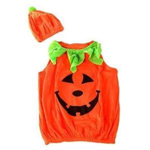 パンプキン キッズ コスチューム フィンガーライト付き かぼちゃ 衣装 ハロウィン|worlddepartyafuu