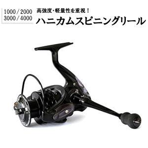 【オルルド釣具】 ハニカムスピニングリール ブラック 6ボー...