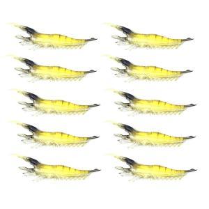オルルド釣具 釣り具 ルアー ソフトシュリンプワーム エビワーム セット 9.5cm 3g|worlddepartyafuu