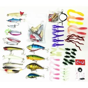 釣り具 ルアー ソフトルアー ワーム ケース付 100個セット オルルド釣具