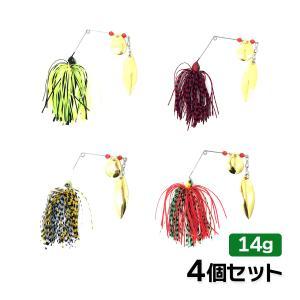 オルルド釣具 釣り具 ルアー スピナーベイト 定番カラー 4個セット 14g 1/2oz 1/2オンス|worlddepartyafuu