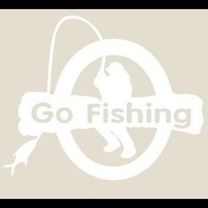 オルルド釣具 フィッシングステッカー Go Fishing ...