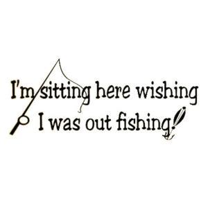 オルルド釣具 フィッシングステッカー 訳:釣りがしたくてうず...