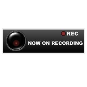 セキュリティー対策 防犯ステッカー 「NOW ON RECORDING」 ポイント消化|worlddepartyafuu