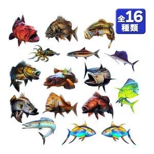 オルルド釣具 魚 ステッカー リアル フィッシュステッカー フィッシング 釣り シール|worlddepartyafuu
