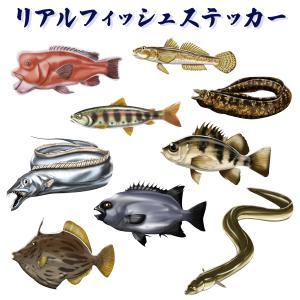 オルルド釣具 ステッカー リアルフィッシュシリーズ 釣り 魚 シール|worlddepartyafuu