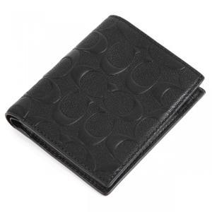 コーチ COACH 財布 二つ折り メンズ シグネチャー 黒 11970ブラック 新品コーチギフトボックス付き|worlddrive